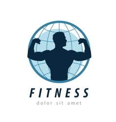 gym logo design template fitness or sport vector image vector image