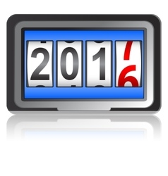 New Year 2017 counter vector image vector image