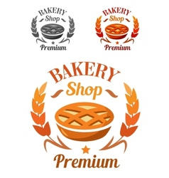 Premium Bakery Shop emblem or badge vector image vector image