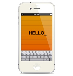 smartphone with touch keyboard vector image vector image