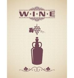 Vintage Wine Label Design Background vector image