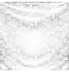 drapery with lace vector image