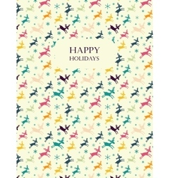 Greeting card with deers vector image vector image