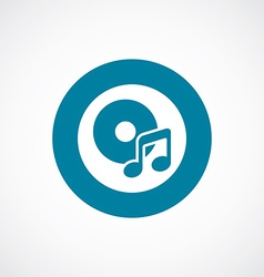 music icon bold blue circle border vector image