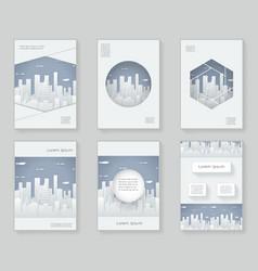 paper silhouette urban landscape city real estate vector image vector image