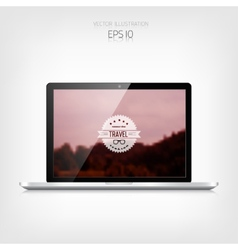 Responsive hipster travel web design Adaptive vector image vector image