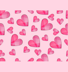 seamless pattern with hearts symbol of love vector image vector image