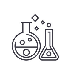 chemistry labexperiments line icon sign vector image