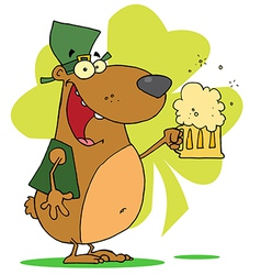 Happy St Patricks Day Bear vector image vector image