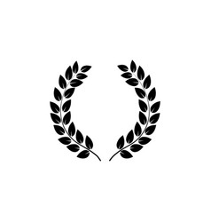 laurel wreath reward on white background vector image