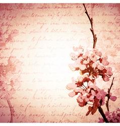 Vintage Spring Blossom vector image
