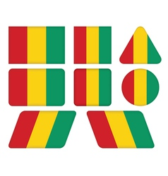 buttons with flag of Guinea vector image vector image