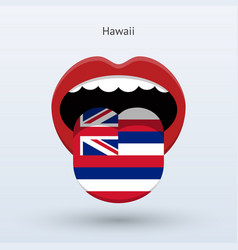 Electoral vote of hawaii abstract mouth vector