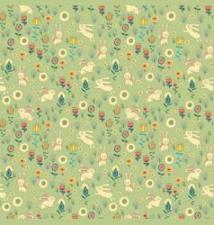 ostern gentle rabbit seamless pattern vector image