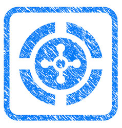 roulette framed grunge icon vector image vector image