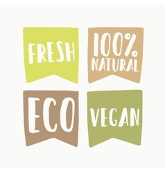 Set of vegan eco labels vector image