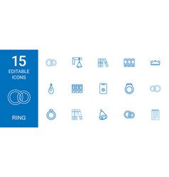 15 ring icons vector