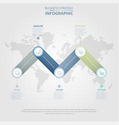 5 steps business infographics design elements vector image