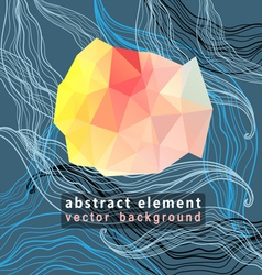 Abstract background with a triangular element vector