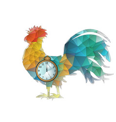 abstract cock and clock vector image