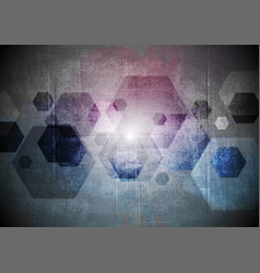 Abstract grunge geometric background vector