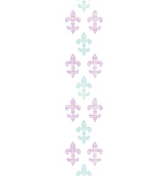 Abstract textile fleur de lis stripes vertical vector image