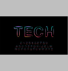 abstrct alphabet double exposure glitch modern vector image
