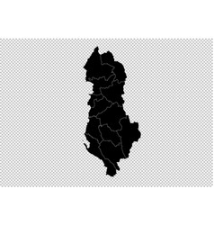 Albania map - high detailed black map with vector