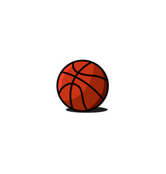 basketball ball icon sports gaming equipment vector image