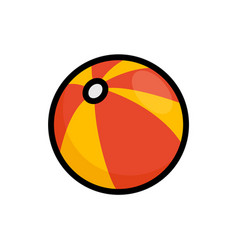 beach ball flat icon summer ball vector image