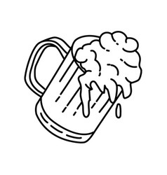 beer icon doodle hand drawn or outline icon style vector image