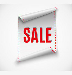 Big sale banner red ribbon vector
