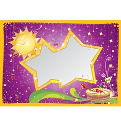 Bithday card vector