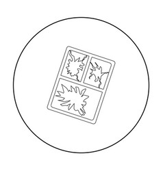 Broken window icon in outline style isolated on vector