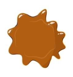 Brown caramel icon vector