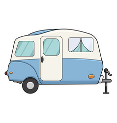 camping trailer icon recreational family voyage vector image