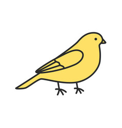 Canary color icon vector