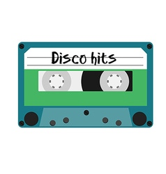 Cassette disco hits vector