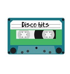 Cassette disco hits vector
