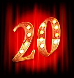 celebrating twenty years anniversary vector image