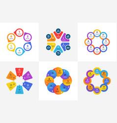 Circular technology infographics with arrow vector