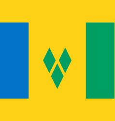Colored flag of saint vincent and the grenadines vector