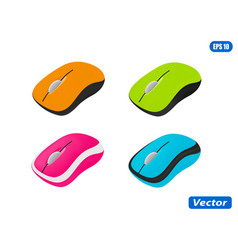Computer mouse in on white background vector