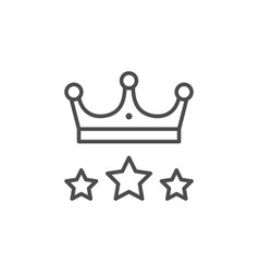 crown and stars line outline icon vector image