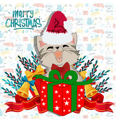 cute meowy christmas vector image
