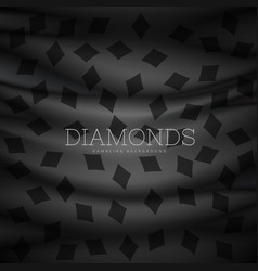 diamond symbol dark pattern background vector image