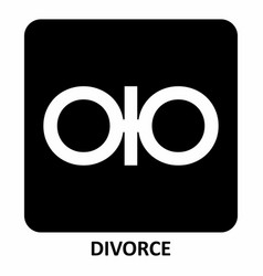 Divorce symbol vector