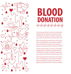 donation blood template vector image