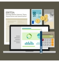 EBITDA Earnings Before Interest Taxes vector