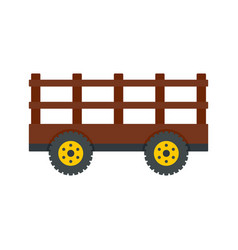 farm tow icon flat style vector image